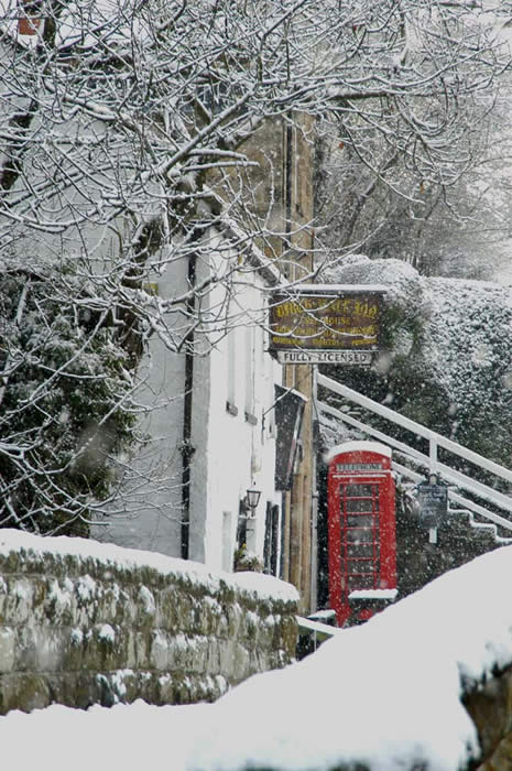 thumbnail of the Birch hall Inn in snow