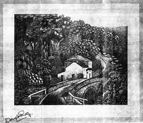 A copy of one of Douglas Reay's etchings