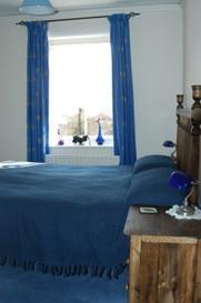 The double room, cool and relaxing, at Birch Hall Cottage, Beck Hole